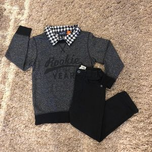 Children's Place Boys Size 5 Sweater & Jeans Set